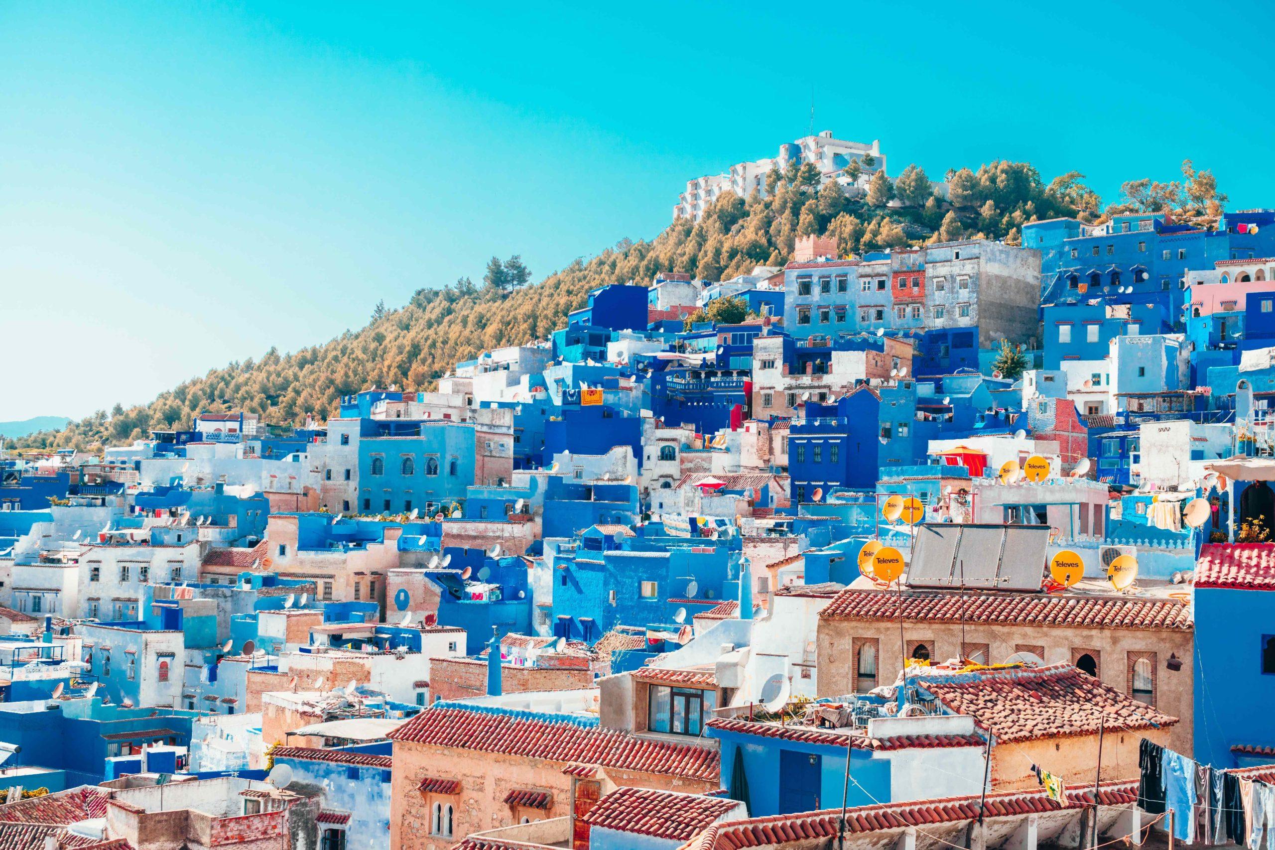 Pueblo azul en Marruecos